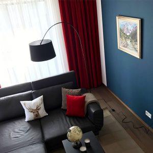 rot blaues Zimmer